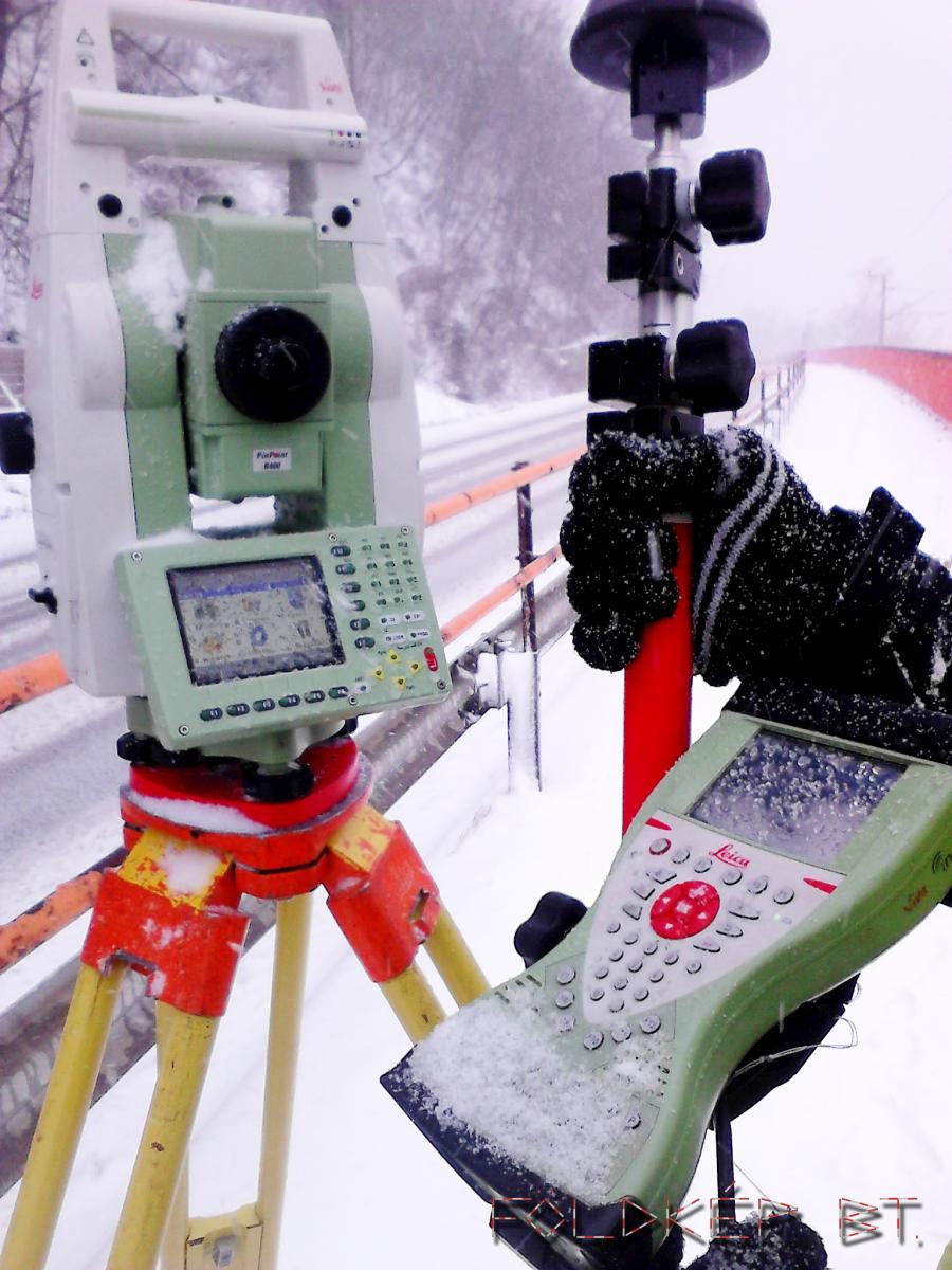 Leica robot télen